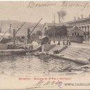 Postales: BARCELONA.- ESCALERA DE LA PAZ Y MONTJUICH. (C.1905).. Lote 33290253