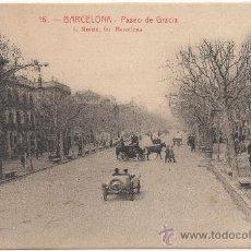Postales: BARCELONA.- PASEO DE GRACIA.- EDICIÓN L. ROISIN, FOTÓGRAFO, NÚM. 16.. Lote 33291485