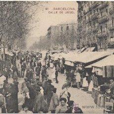 Postales: BARCELONA.- CALLE DE URGEL.- EDICIÓN DE MISSÈ HNOS., NÚM. 41.. Lote 33292542