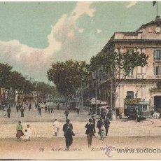 Postales: BARCELONA.- RAMBLA DE SANTA MÓNICA Y BANCO DE BARCELONA.- EDICIÓN LUCIEN LEVI (LL), FOTÓGRAFO, Nº 29. Lote 33310766
