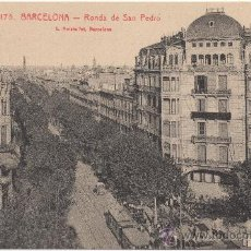 Postales: BARCELONA.- RONDA DE SAN PEDRO.- EDICIÓN L. ROISIN, FOTÓGRAFO, NÚM. 175.. Lote 33331004