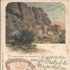 Postales: PS3134 LOTE DE 10 POSTALES LITOGRÁFICAS DE MONTSERRAT. SERIE COMPLETA. M. PUJADAS. 1903. Lote 33344988