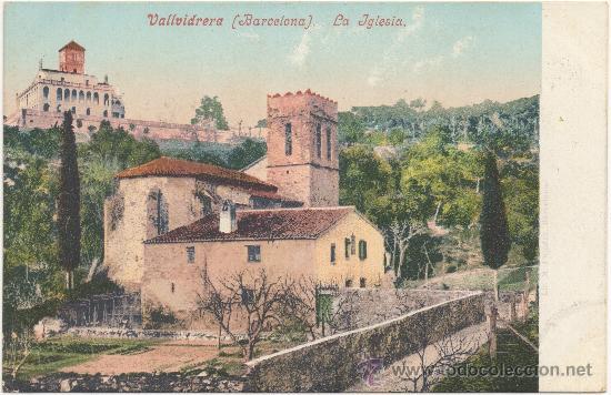 BARCELONA.- VALLVIDRERA. LA IGLESIA. (Postales - España - Cataluña Antigua (hasta 1939))