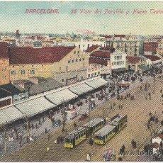 Postales: BARCELONA.- VISTA DEL PARALELO Y NUEVO TEATRO ESPAÑOL. (C.1910).. Lote 33359144