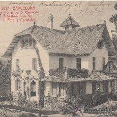 Postales: BARCELONA. CONSTRUCCIONES MODERNAS, SAN GERVASIO CALLE SAN SEBASTIAN, 90. ARQ.: J.PUIG Y CADAFALCH.. Lote 33372263
