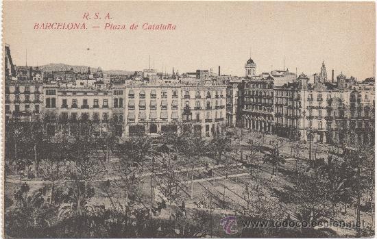 BARCELONA.- PLAZA DE CATALUÑA. (Postales - España - Cataluña Antigua (hasta 1939))