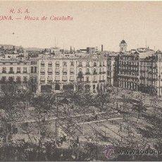 Postales: BARCELONA.- PLAZA DE CATALUÑA.. Lote 33379012
