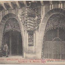 Postales: BARCELONA.- CONSTRUCCIONES MODERNAS. CONDE DEL ASALTO NÚM.5, DETALLE. ARQUITECTO: DON ANTONIO GAUDÍ.. Lote 33409068