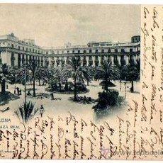 Postales: BARCELONA. PLAZA REAL. 637 HAUSER Y MENET. CIRCULADA CON SELLO. . Lote 33416519