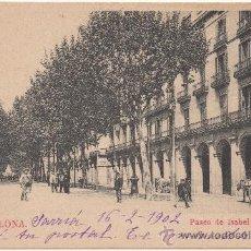 Postales: BARCELONA.- PASEO DE ISABEL II. (C.1900).. Lote 33470193