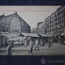 Postales: POSTAL R.S.A. BARCELONA, LOS ENCANTES Y MERCADO SAN ANTONIO . Lote 33479069