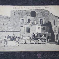 Postales: POSTAL DEL BALNEARIO DE VALLFOGONA DE RIUCORB - LA PLAZA, ANIMADA. . Lote 111309475