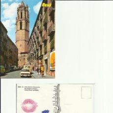 Postales: CIA DE TEATRE TEATRO LA CUBANA REUS EL CAMPANAR REUS JOVE 85 SELLADA Y LABIOS IMPRESOS DELIKATESSEN. Lote 33500685