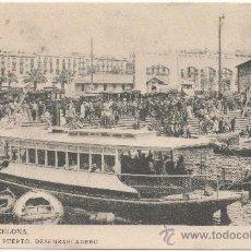 Postales: BARCELONA.- EL PUERTO. DESEMBARCADERO.- EDICIÓN L.B., FOTOTIPIA THOMAS, NÚM. 123.. Lote 33558600