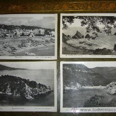 Postales: 4 ANTIGUAS POSTALES TOSSA DE MAR (GIRONA) - COSTA BRAVA. Lote 33560992
