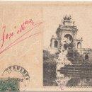 Postales: BARCELONA.- PARQUE DE LA CIUDADELA. CASCADA. (C.1900).. Lote 33588991