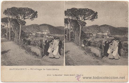 BARCELONNE.- PÉLERINAGE DE SAINT MÉDIN.- BARCELONA. (Postales - España - Cataluña Antigua (hasta 1939))