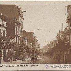 Postales: BARCELONA.- AVENIDA DE LA REPÚBLICA ARGENTINA.. Lote 33684250