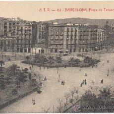 Postales: BARCELONA.- PLAZA DE TETUÁN.. Lote 33709588