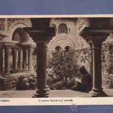 Postales: TARJETA POSTAL DE MONTSERRAT. CLAUSTRO ROMANICO, DETALLE. RIEUSSET. . Lote 33728641