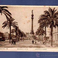Postales: TARJETA POSTAL DE BARCELONA. 100. MONUMENTO A COLON. ZERKOWITZ. . Lote 33762810