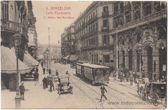 BARCELONA.- CALLE FONTANELLA. (Postales - España - Cataluña Antigua (hasta 1939))