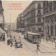 Postales: BARCELONA.- CALLE FONTANELLA.. Lote 33777064