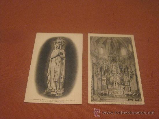 2 POSTALES DEL SANTUARI NTRA.SRA. DE LOURDES - LA NOU- (Postales - España - Cataluña Antigua (hasta 1939))
