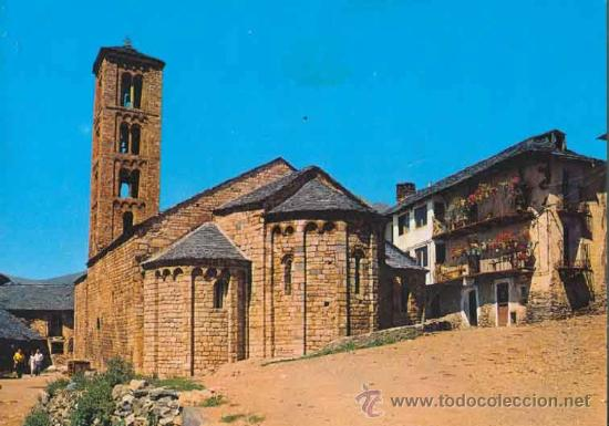 POSTAL DE IGLESIA ROMANICA DE SANTA MARIA DE TAHULL - VALL DE BOHI - LLEIDA - KOLORHAM L-3938 (Postales - España - Cataluña Moderna (desde 1940))