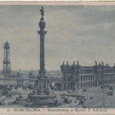 Postales: BARCELONA.- MONUMENTO A COLÓN Y ADUANA.. Lote 34015210