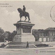 Postales: BARCELONA.- MONUMENTO Á PRIM. (1908).. Lote 34016806