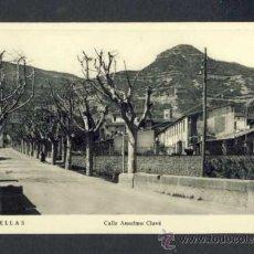Postales: POSTAL DE CENTELLES: CARRER D' ANSELM CLAVÉ. Lote 34026027
