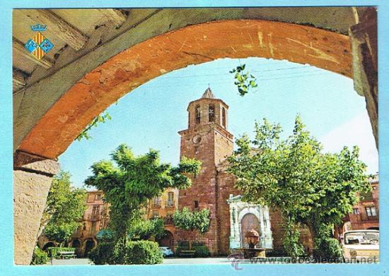 PRADES. PLAÇA MAJOR. FOTOGRAFISME. NO CIRCULADA 70'S (Postales - España - Cataluña Moderna (desde 1940))