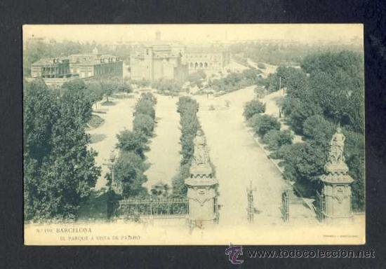 POSTAL DE BARCELONA: EL PARC A VISTA D' OCELL (THOMAS, LB NUM. 159) (Postales - España - Cataluña Antigua (hasta 1939))