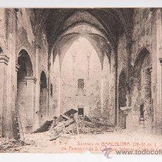Postales: POSTAL DE BRCELONA Nº 24 -SUCESOS DE BARCELONA- FOTOGRAFIA EN BLANCO Y NEGRO. Lote 34495509