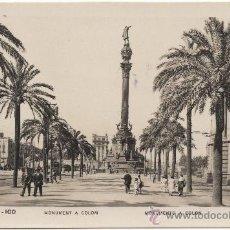 Postales: BARCELONA.- MONUMENT A COLOM.- MONUMENTO A COLÓN.. Lote 34499749