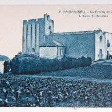 Postales: POSTAL DE PLAFRUGELL Nº 7 ,LA ERMITA DE S. SEBASTIAN, FOTOGRAFIA VIRADA. Lote 34505210
