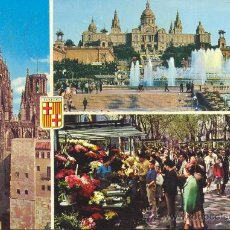 Postales: BARCELONA VISTAS VARIAS POSTAL CIRCULADA. Lote 34510344