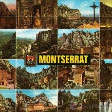 Postales: MONTSERRAT, BARCELONA, CON TRECE VISTAS DESPLEGABLES, AÑO 1988. Lote 34531176