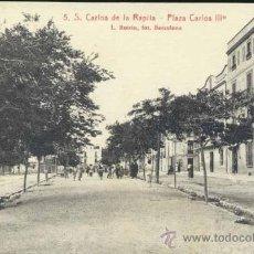 Postales: SAN CARLOS DE LA RAPITA (TARRAGONA).- PLAZA CARLOS III. Lote 34708291