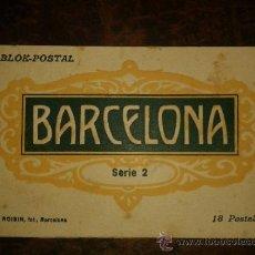 Postales: CUADERNILLO BLOK POSTAL BARCELONA, 2ª SERIE ROISIN, 18 POSTALES, VER NUEVAS FOTOS ADICIONALES. Lote 34855375