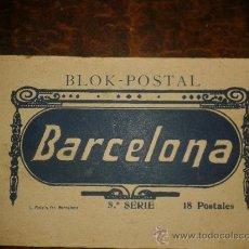 Postales: CUADERNILLO BLOK POSTAL BARCELONA, 5ª SERIE ROISIN, 18 POSTALES, NUEVAS FOTOS ADICIONALES. BARCOS. Lote 34855394