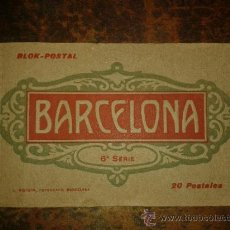 Postales: CUADERNILLO BLOK POSTAL BARCELONA, 6ª SERIE ROISIN, 20 POSTALES, VER FOTOS NUEVAS ADICIONALES. Lote 34855403