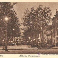 Postales: FIGUERAS Nº 12 - RAMBLA, AL ATARDECER - EDICIÓN TRAYTER - SIN CIRCULAR. Lote 34936885