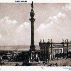 Postales: BARCELONA MONUMENTO DE COLON. Lote 34982654