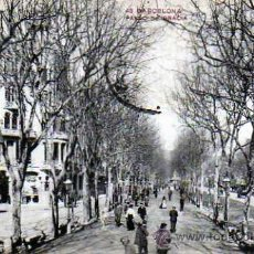 Postales: BARCELONA PASEO DE GRACIA POSTAL CIRCULADA. Lote 36497414