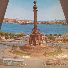 Postales: POSTAL BARCELONA MONUMENTO COLON ED. KOLORMAN SIN CIRCULAR. Lote 35204375