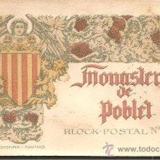 Postales: MONASTERIO DE POBLET - BLOCK-POSTAL Nº 4 - CON 20 VISTAS (POSTALES) - FOTOTIPIA THOMAS. Lote 35221974