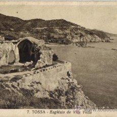 Postales: TOSSA, (GERONA) ESGLESIA DE VILLA VELLA, EDICION VALLVE. Lote 35334073