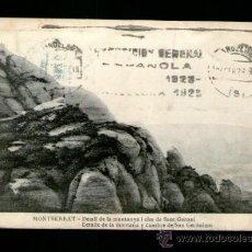 Cartes Postales: MONTSERRAT DETALLE MONTAÑA Y CUMBRE SAN GERÓNIMO - SIN EDICIÓN - POSTAL. Lote 35408665